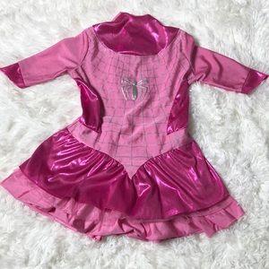 Spider Gwen Girls Costume Pink Size Small